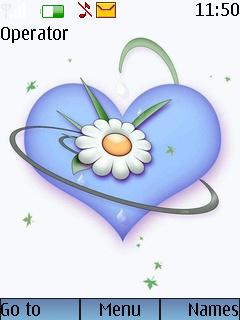 Flower Heart Mobile Theme