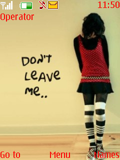 Dont Leave Me Mobile Theme