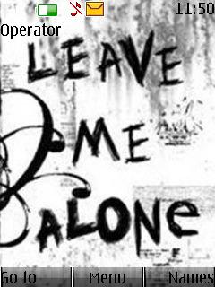 Leave Me  Mobile Theme
