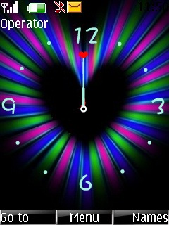 Love Clock S40 Theme Mobile Theme