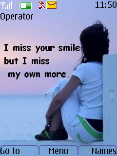 Miss Your Smile Mobile Theme