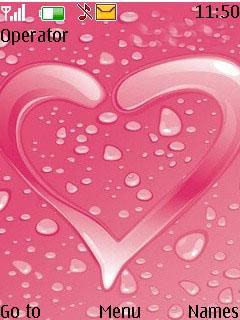 Pink Love Mobile Theme