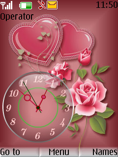 Rose Clock Theme Mobile Theme