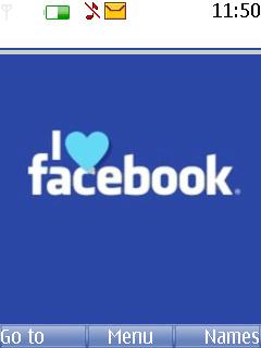 Facebook Love Mobile Theme