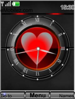 Swf Heart Clock Mobile Theme