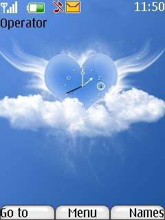 Swf Angel Heart Mobile Theme