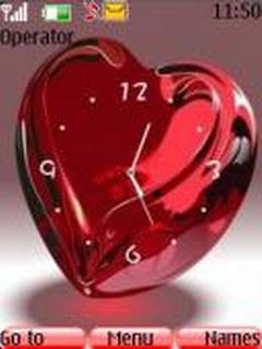 Swf Glass Heart Mobile Theme
