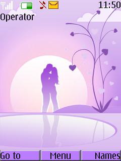 Purple Sunset Mobile Theme