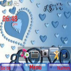 Blue Heart Mobile Theme