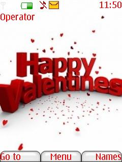 Happy Valentines Mobile Theme