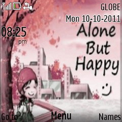 Alone But Happy Mobile Theme