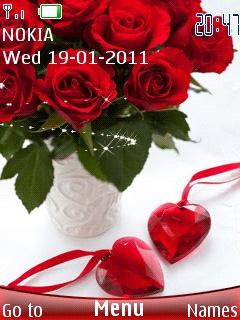 Rose And Heart Mobile Theme