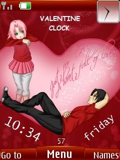 Valentine Clock Mobile Theme
