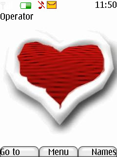 Animated Heart Mobile Theme