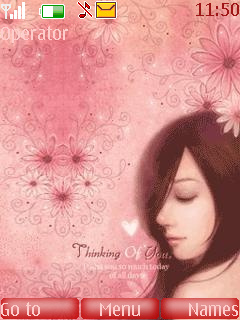 Thinking Of You Mobile Theme