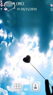 Heart And Clouds Mobile Theme
