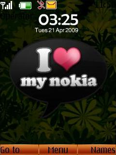 I Love My Nokia Mobile Theme