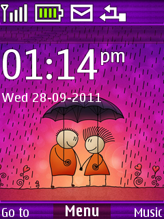 Lovers Raining S40 Theme Mobile Theme