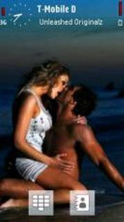 Kissing On Sea S60v5 Theme Mobile Theme