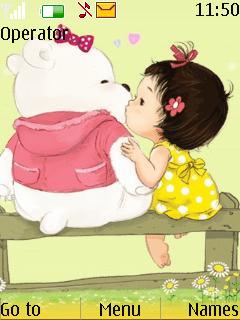 Cute Teddy Love S40 Theme Mobile Theme