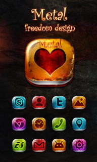 Metal Love Heart For Android Theme Mobile Theme