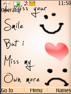 I Miss Your Smile S40 Theme Mobile Theme