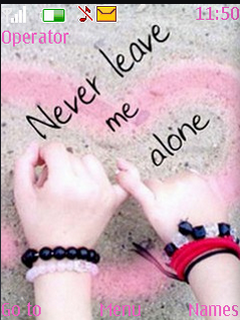 Never Leave Me Alone S40 Theme Mobile Theme