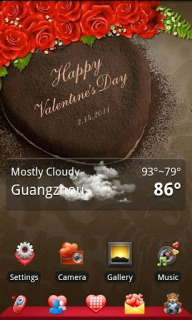 Happy Valentineday For Android Theme Mobile Theme