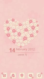 Pink Flowers Heart For Android Theme Mobile Theme