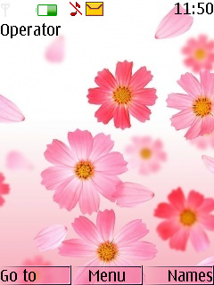 Pink Lovely Flowers S40 Theme Mobile Theme