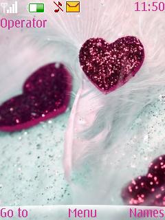 Glitter Heart S40 Theme Mobile Theme