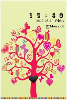 Awesome Love Romance Tree Android Theme Mobile Theme