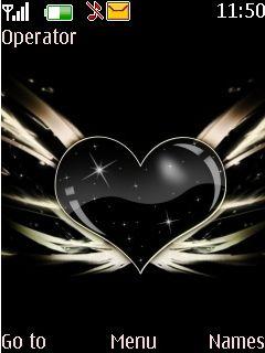Black Carbon Love S40 Theme Mobile Theme