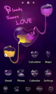 Blood Sweet Love For Android Theme Mobile Theme