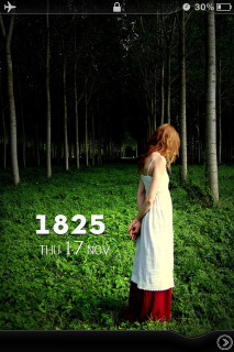 Lonely Girl In Forest Nature IPhone Theme Mobile Theme