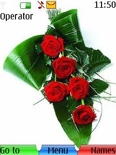 Rose Love & Leaves S40 Theme Mobile Theme