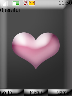 Pink Heart Love S40 Theme Mobile Theme