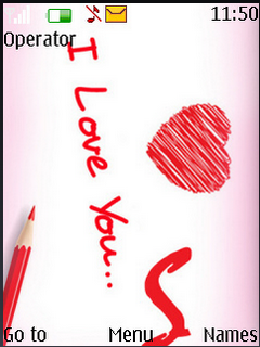 I Love You Sweet S40 Theme Mobile Theme