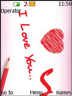 I Love You Sweet S40 Theme Mobile Theme