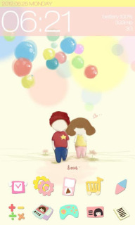 Lovers & Colors Balloon For Android Theme Mobile Theme