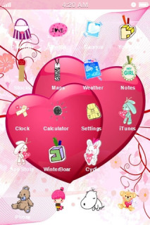 Cute Couple Hearts IPhone Theme Mobile Theme