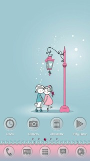 Kissing Lovers For Android Theme Mobile Theme