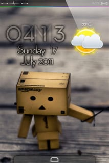Sad Danbo & Clock IPhone Theme Mobile Theme