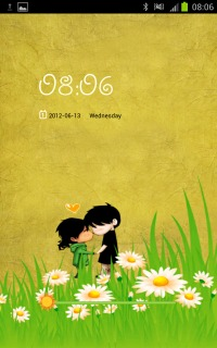 Romantic Couple Love Nature Android Theme Mobile Theme
