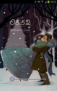 Winter Love Couple For Android Theme Mobile Theme