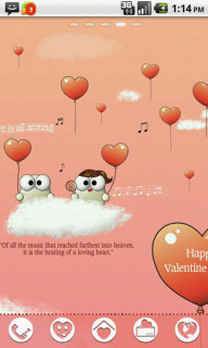 Lovers Valentine Day Android Theme For Smartphones Mobile Theme