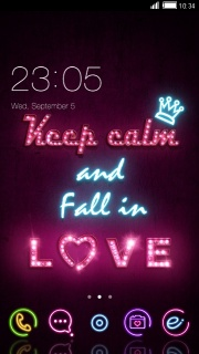 Keep Calm And Fall In Love Android Theme Mobile Theme