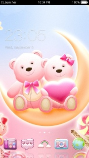 Love Honey Bear Free Android Theme Mobile Theme