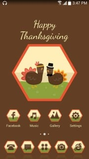 Happy Thanksgiving Android Theme Mobile Theme