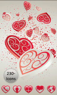 Falling Valentine Hearts Android Theme Mobile Theme
